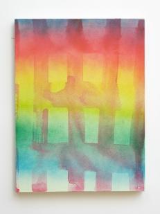 """Fade, 2013, acrylic and acrylic spraypaint on canvas, 24"""" x 20"""""""
