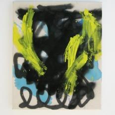 "Untitled, 2013, acrylic and acrylic spraypaint on canvas, 24"" x 20"""