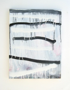 Ladder, 2013, acrylic on canvas