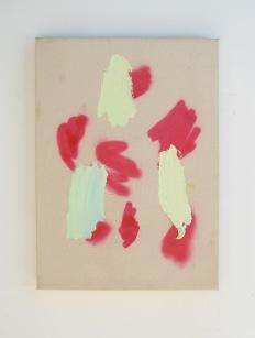 "Untitled, 2013, acrylic and acrylic spraypaint on canvas, 22"" x 16"""